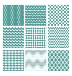 Seamless Basic Patterns vector