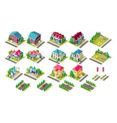 set building children playground car vector image