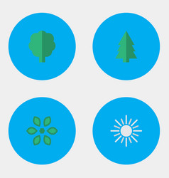 Set of simple gardening icons vector