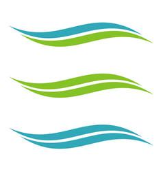 Set swoosh accent logo template vector