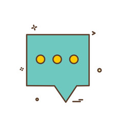 sms message chat icon design vector image