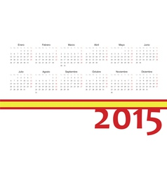Spanish 2015 year calendar vector