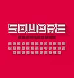 square shape letters linear font vector image