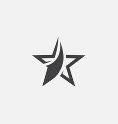 star icon design logo vector image