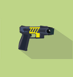 stun gun pistols electric with flat and long vector image