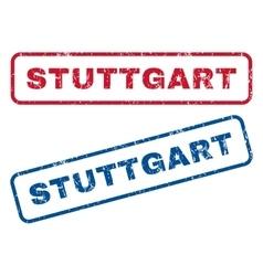 Stuttgart Rubber Stamps vector image