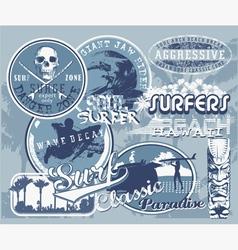 surf hawaii wave vector image