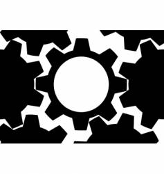 technology gears background vector image vector image