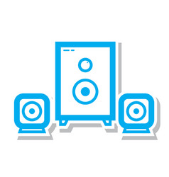Thin line sound system icon vector