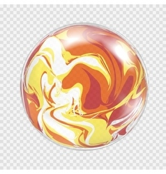 Transparent light bulb sphere background vector