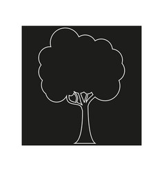 trees line icon on the black background eps 10 vector image
