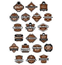Vintage and retro wild west style labels vector
