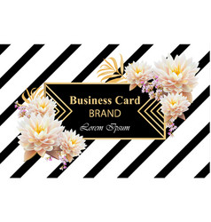 business brand card with realistic flowers vector image