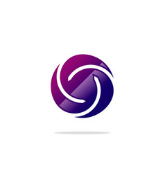 circle twist abstract logo vector image
