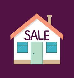 Real estate new house for sale vector