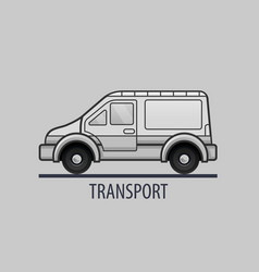 white delivery truck icon flat style vector image vector image