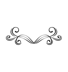 decorative border page frame filigree divider vector image