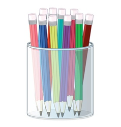pencils and a cup vector image