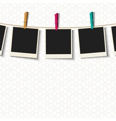 Photo Frames with clothespins vector image