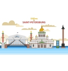 Saint-Petersburg flat cityscape vector image