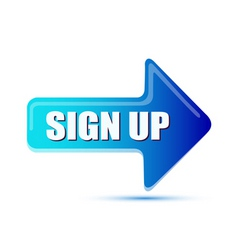 sign up arrow vector image vector image
