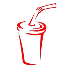 Takeaway soda in a polystyrene cup vector image vector image