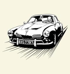 VINTAGE CAR RACE vector image vector image