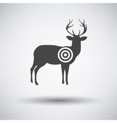 Deer silhouette with target vector image