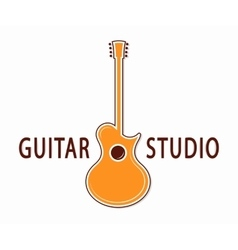 guitar icon or symbol Logo for music shop vector image