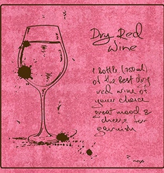 Hand drawn Red Wine vector image vector image