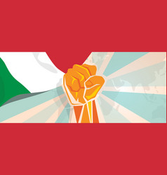 italy fight and protest independence struggle vector image vector image