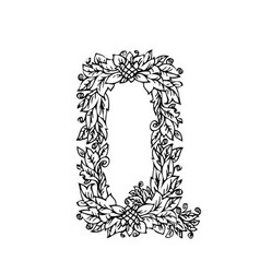 letters floral q vector image vector image