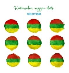 Watercolor reggae style dots vector