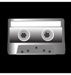 cassette on black vector image