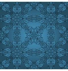 floral retro pattern vector image vector image