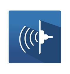 industrial ultrasonic icon vector image vector image