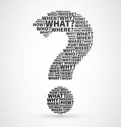 question mark collage vector image