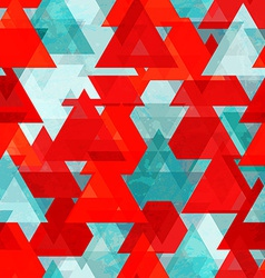 red triangle seamless texture with grunge effect vector image vector image