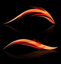Smooth abstract forms on black vector image vector image