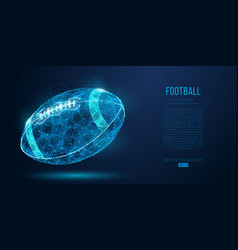 abstract american football ball rugby vector image