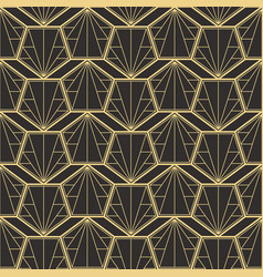 Abstract art deco modern tiles pattern vector