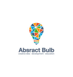 abstract business company logo light bulb idea vector image
