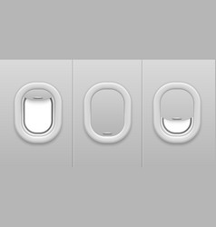airplane window aircraft illuminator open and vector image