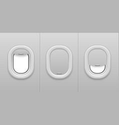 airplane window aircraft illuminator open vector image