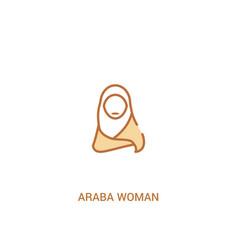 Araba woman concept 2 colored icon simple line vector