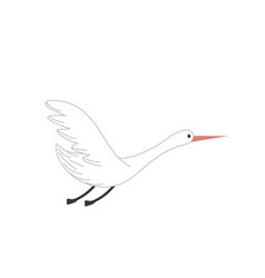 Beauty stork animal with wings vector