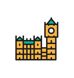 Big ben historic building with clock in london vector