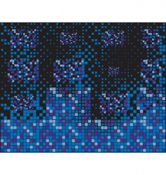 blue squares vector image