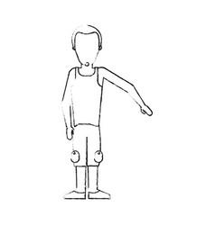 blurred silhouette caricature faceless man with vector image