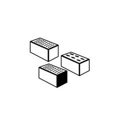 bricks icon elements of constraction icon premium vector image
